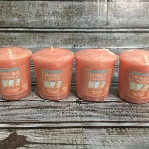 4 YANKEE CANDLE LINE DRIED COTTON VOTIVE CANDLES